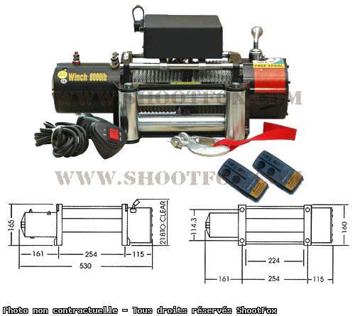 TREUIL ELECTRIQUE 24V - 3600 kg - à Télécommande