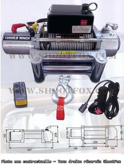 TREUIL ELECTRIQUE 24V - 5440 kg - a Télécommande