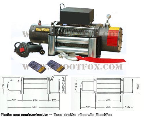 TREUIL ELECTRIQUE 12V - 5440 kg - a Télécommande