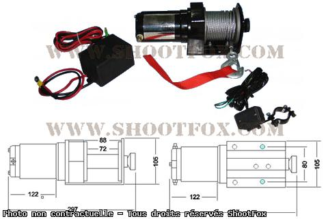 TREUIL ELECTRIQUE 12V - 907 kg