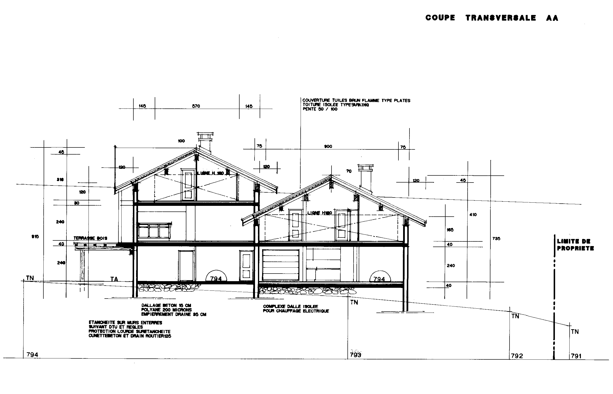 Plan de coupe de maison coupe with plan de maison 200m2 for Plan maison 200m2